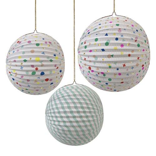 Toot Sweet @ Occasions Direct - Confezione da 3 decorazioni a sfera Toot Sweet, di carta, da appendere