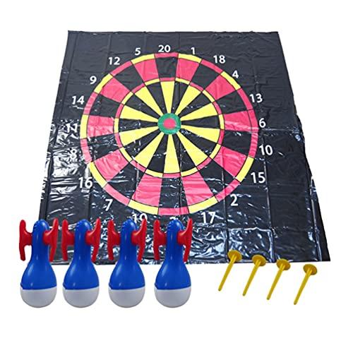 VALICLUD Außen Darts Spiel Aufblasbare Flarts Rasen Darts Werfen Spiel Spielzeug Kit Für Kinder Familie Sommer Außerhalb Rasen Yard Sport Aktivitäten Spielen 130X130cm
