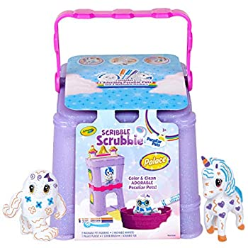Crayola Scribble Scrubbie Peculiar Pets Palace Playset with Unicorn and Yeti Gift Ages 3 4 5 6