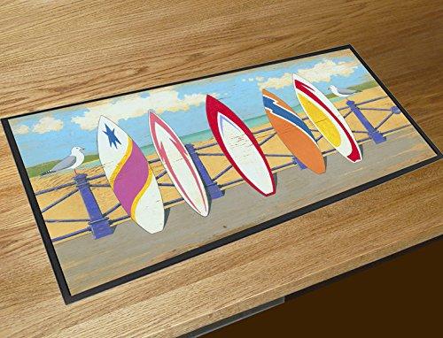 440mm x 250mm) Goma antideslizante superficie de poliéster Digital impresión en color Se puede lavar a máquina.
