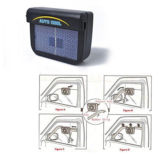 elegantstunning Ventilador solar para coche, ahorro de energía, uso universal