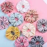 Slosh 10 Goma de Pelo Lazo de Pelo Elástico Banda Multi Colores Cinta de Pelo Mujer Niña Satín Elástica