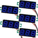 (5 Pack) JacobsParts DC 2.4-30V 2-Wire Voltmeter 3-Digit LED Display Panel Volt Meter Digital Voltage Tester (Blue)