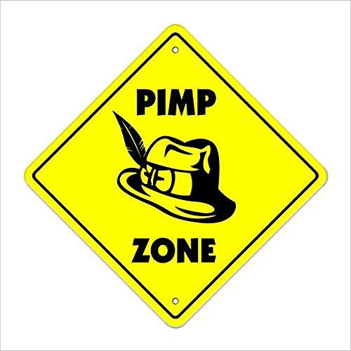 Ditooms Pimp Crossing Sign Zone Xing Indoor Outdoor Aluminium Metalen Tin 12