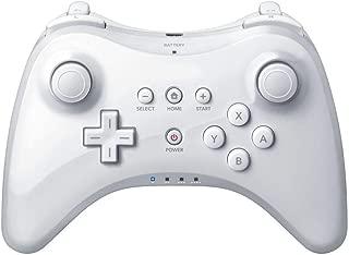 Pro Controller for Wii U, PowerLead Wireless Controller Gamepad for Nintendo Wii U Bluetooth Dual Analog Game Controller Joystick Gamepad (White)