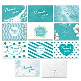 Hotcinfin Thank You Cards Boxed Set, Bulk 100 Assorted Greeting Gift Blank Cards with Envelopes and Stickers,Simple Watercolor Sympathy Note Cards - Business, Bridal/ Baby Shower, Wedding, Funeral