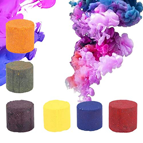 LIANZHIJIE 6Pcs/Set Smoke Cake Round Colorful Fog Effect Maker Stage Show Photography Film...