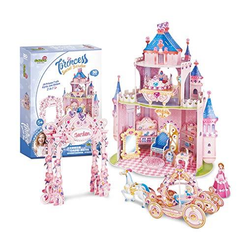 Uitstekend Puzzel Cubic 3D driedimensionale puzzel geassembleerd Kasteel van de prinses DIY Stickers Boor Driedimensionale Handmade Dollhouse Girl Verdikken (Color : B)