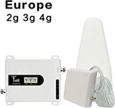 2G 3G 4G Cell Phone Cellular Signal Booster GSM 900 DCS/LTE 1800 WCDMA 2100 Mobile Signal Repeater Antenna Set for Europe