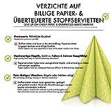 GRUBly Servietten GRÜN | Stoffähnlich [50 Stück] | Hochwertige grüne Servietten, Tischdekoration für Hochzeit, Geburtstag, Ostern, Frühling, Feiern | 40x40cm | AIRLAID QUALITÄT - 7