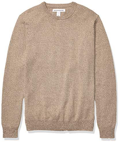 Amazon Essentials Men's Crewneck Sweater, -Brown Space-Dye, Medium