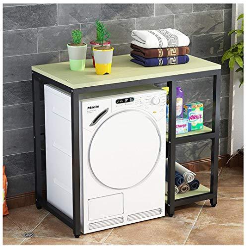 Lavadora Rack Hogar Baño Almacenamiento Almacenamiento Piso Suelo sobre el DRU, Estantes de la Cocina, Estanterías, Piso M Multi-Capa Balcón Gabinete de lavandería Black-C