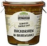 Gourmet Factory Hackbraten in Bratensoße, 3er Pack (3 x 450 g)