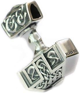 925 Sterling Silver High Details Thor's Hammer Mens Biker Pendant TA137 JP
