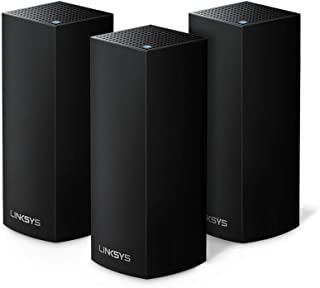 Linksys WHW0303B Velop Tri-Band Whole Home Mesh WiFi System (AC6600 WiFi Router/Extender for Seamless Coverage of up to 6,...
