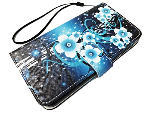 for Huawei Ascend XT2 H1711 / XT 2 / Elate 4G Wallet Credit Card Pouch Protective Case Phone Cover + Gift Stand (Wallet Aqua Flower)