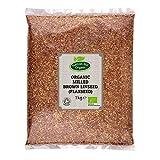 Semilla de lino marrón molida orgánica (semilla de lino molida) 1 kg de Hatton Hill Organic
