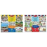 Melissa & Doug Wiederbenutzbarer Stickerblock - Fahrzeuge (165 Sticker) & Wiederbenutzbarer Stickerblock - Meine Stadt (200 Sticker)