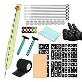Anself Hand Poke and Stick, Kit de Tatuaje Manual para Pinchar y Pegar, Juego de Agujas para Tatuaje Incluye 3RL / 5RL / 7RL / 9RL