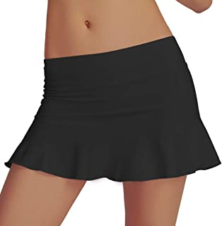 PCGAGA Athletic Short Skirt High Waist Tennis Skirt A-Line Skort with Build in Shorts Lightweight Workout Skirts
