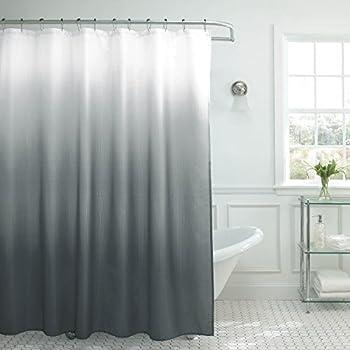 Creative Home Ideas Ombre Shower Curtain Set 70 x72  Dark Grey