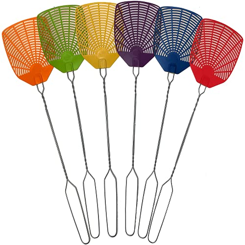 W4W PRODUCTS Bug & Fly Swatter - Extra Long Handle 6 Pack Fly Swatters - Indoor / Outdoor - Pest...