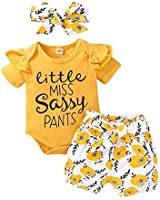 Newborn Girls Clothes Outfits Short Sleeve Ruffle Clothes Tops + Floral Pants Sets Baby Girl Summer Clothes Short Sets 3-6 Months