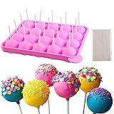Cake Pop Form Set für Eiswürfel Silikon Pop-Kuchen Süßigkeiten Gumdrop Gelee Cupcakes Lollipop DIY-Werkzeuge + 120 Stäbchen