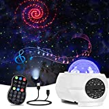 Star Projector Night Light,LED Galaxy Starry Light Projector for Bedroom,Ocean Wave Projector Light Decorative,Sky Star Lite with Sound Activated,Music Speaker&Remote Control for Kids,Adults,Holidays