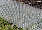 Cat Repellent Outdoor Scat Mat: Pet Deterrent Mats for Cats, Dogs, Pests - Indoor / Outdoor Repellent Training Spike Mat Devices - Keep Away Pest Plastic Mats with Spikes - 16 x 13 Inches, 6 Pack