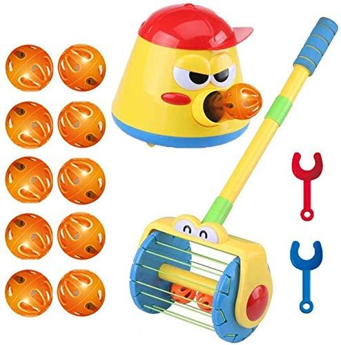 Soudream Walker Elettrico a Spinta E Vortice Scoop a Ball Launcher Walker Set, Puzzle Fun Launcher Toy, Launcher Automatico per Bambini, Giocattolo Aspirapolvere per Bambini (A+B)
