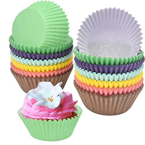 Muffin Förmchen Papier,300 Stück Muffin Backformen Cupcake Wrapper Papier Fällen Liners Muffinförmchen für Dessert Backen Geburtstag Hochzeit Party