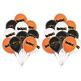 Haikyuu Party-Luftballons für Kinder, Babyparty, Partyzubehör, Latex-Ballon, Geburtstagsparty, Dekoration, Zubehör für Jungen, Mädchen, Fans, Rot, Schwarz, Orange, 24 Stück
