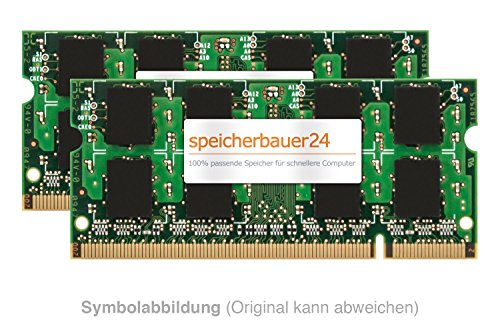8GB Arbeitsspeicher (2X 4GB RAM Kit) - 200pin SO-DIMM DDR2 667MHz - passend für Lenovo ThinkPad T61 - RAM-Upgrade