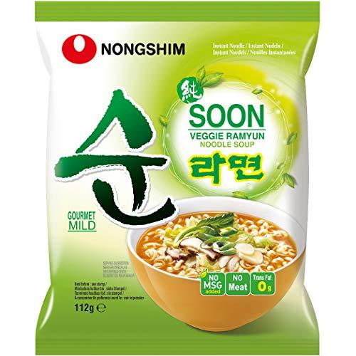 Nong Shim Instantnudeln, Soon Veggie Ramyun mild, 112 g