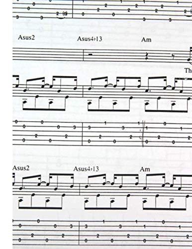 pequeño y compacto Cuaderno de guitarra: 21,59 x 27,94 cm (8,5 x 11 pulgadas), 120 páginas, tablaturas de guitarra, por intervalo …
