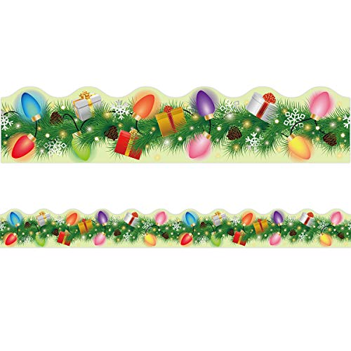 Christmas Lights Border Holiday Classroom Bulletin Board Decoration 36ft One Roll