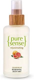PureSense Vitamin-C Rich Grapefruit Rejuvenating Body Mist for Long-Lasting Fragrance, Nourishes & Hydrates Skin, Awakens ...