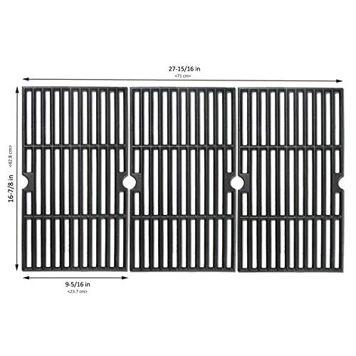 BBQMall Cast Iron Grill Cooking Grate Fit for Charbroil 463420508, 463420509, 463420511, 463436213, 463436214, 463436215, 463440109, 463441312, 463441514, 463461613 Gas Grills