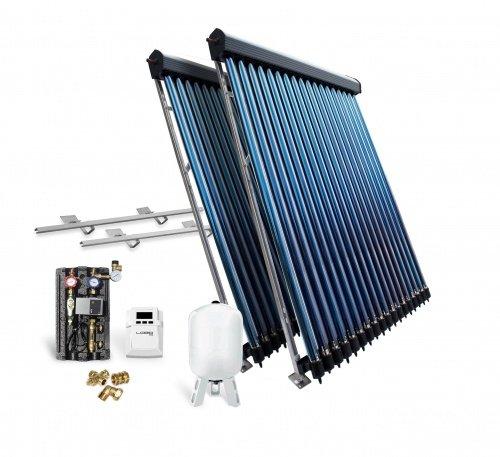 Solaranlage Solarpaket Vakuumröhrenkollektor VK30-2 9,78 m² Flachdach Röhrenkollektor Kollektor