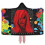 Bebe Rexha Singer Ultra-Soft Hooded Blanket 50'X40' Anti-Pilling Flannel Throw Blanket