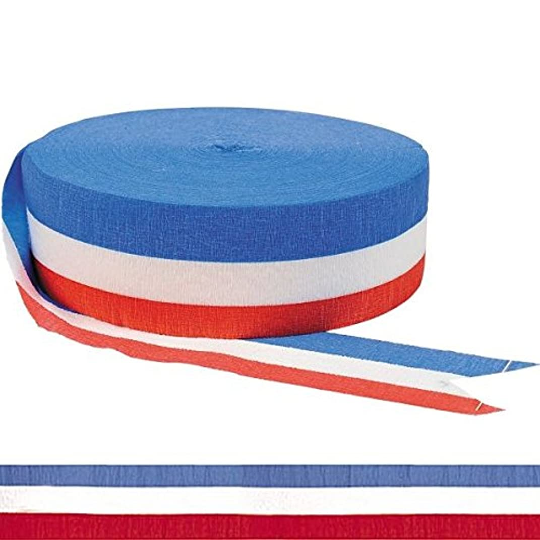 Red, White & Blue Jumbo Party Crepe Streamer
