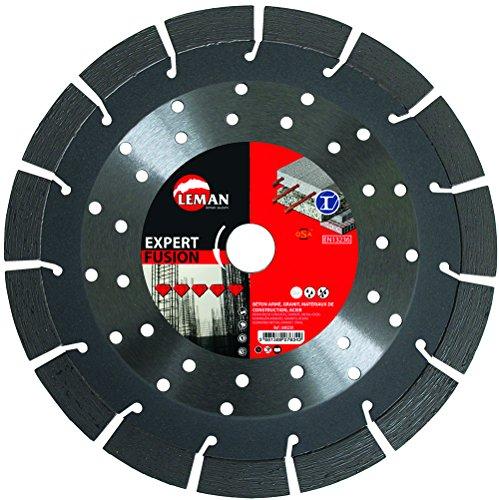LEMAN 640355 - diamantschijf voor beton (350 mm, legertje en graniet, maat 350) kleur rood en grijs