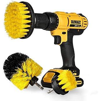 """StillCool Drill Brush Cepillos para el Taladro, 3pcs Electric Drill Brush 2""""3.5"""" 4""""Cepillo eléctrico para Automóvil, Alfombra, Baño, Piso de madera, Cuarto de lavado, Cocina (Amarillo)"""