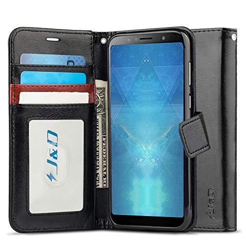JundD Kompatibel für ZenFone Max Pro (M1) Leder Hülle, [RFID Blocking Standfuß] Stoßfest PU Leder Flip Handyhülle Tasche Hülle für ASUS ZenFone Max Pro (M1) Hülle - [Nicht für ZenFone Max Plus (M1)]