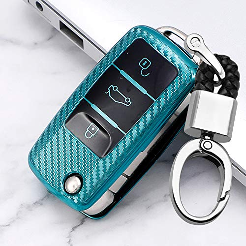 ontto Funda plegable para llave de coche para Volkswagen Golf 4/5/6, Polo, Passat Up Caddy, Skoda, S