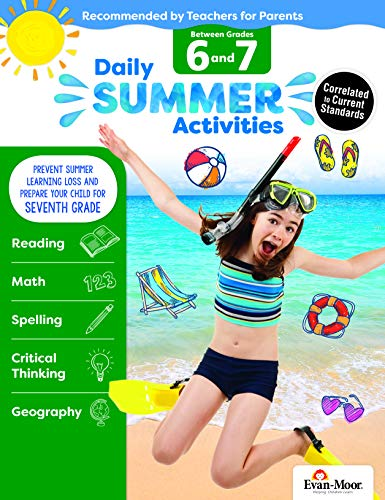 Daily Summer Activities: Moving from 6th Grade to 7th Grade, Grades 6-7