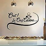 stickers muraux citations enfants Citation Cuisine Chut! Sticker mural Le Chef Cuisine Pour Cuisine