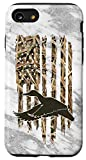 iPhone SE (2020) / 7 / 8 Grey Camouflage American USA Flag Duck Hunter Hunting Trendy Case