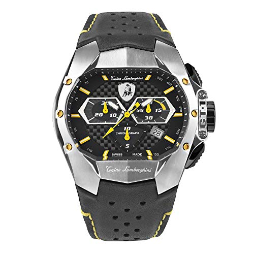 Tonino Lamborghini GT1 Chronograph Watch Steel Yellow